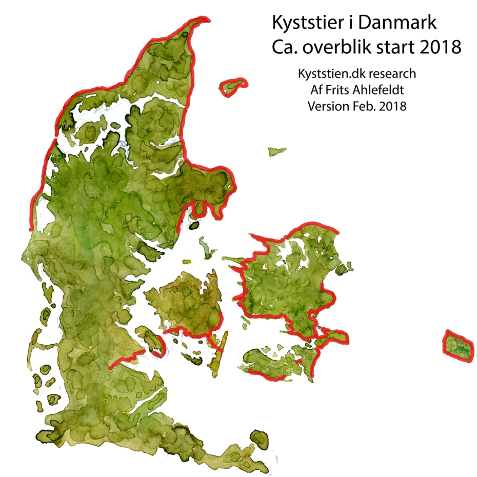 Danske kyststier start 2018 - Skitse